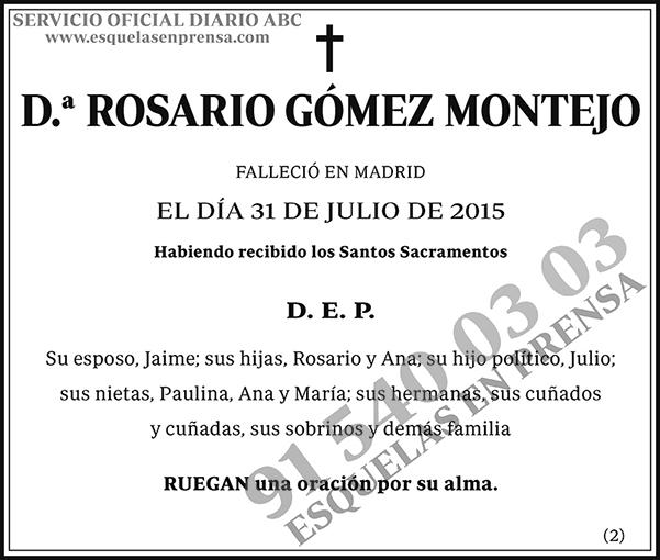 Rosario Gómez Montejo